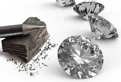 Tanto a grafite quanto o diamante são constituídos apenas de átomos de carbono