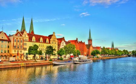 A cidade de Lübeck, na Alemanha, foi um dos principais centros comerciais da Liga Hanseática