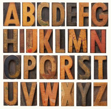 The Alphabet in English./ O alfabeto em inglês