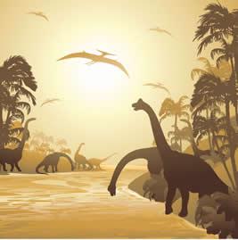 A Era Mesozoica também é conhecida como a Era dos Dinossauros