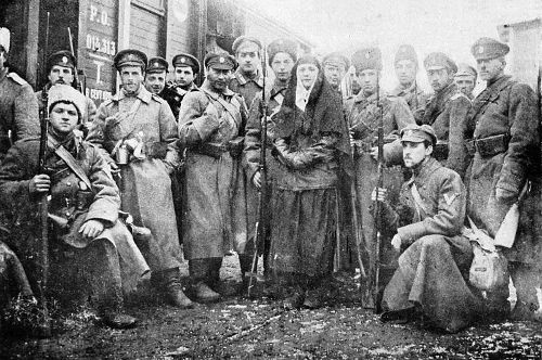 Membros do Exército Branco, o mais forte opositor dos bolcheviques.