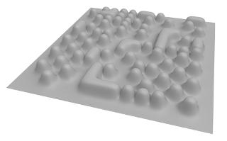 Imitação de imagens de átomos em microscópio de tunelamento por varredura