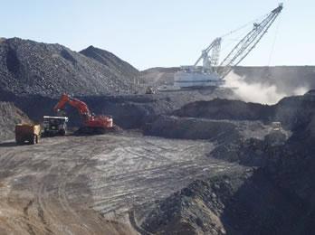 Extração de carvão mineral