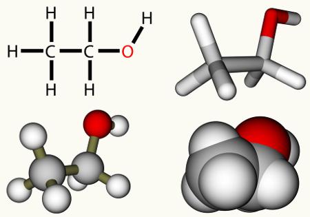 O etanol pode ser obtido a partir de reação de hidratação de alceno