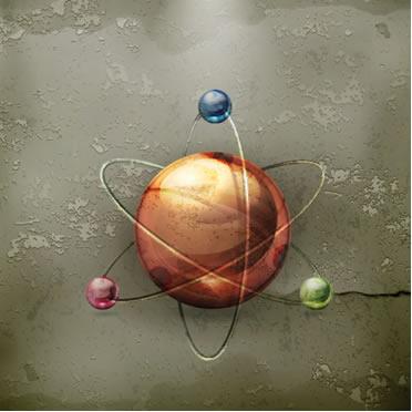 O tamanho do raio atômico depende da quantidade de prótons no núcleo, de elétrons na eletrosfera e do número de camadas eletrônicas do átomo