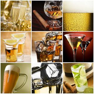 Existem vários tipos de bebidas alcoólicas