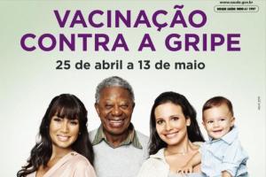 Agora a campanha nacional da vacina contra a gripe atende às gestantes e algumas crianças.