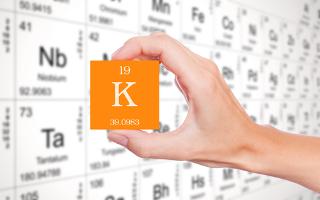O potássio é um elemento químico importante
