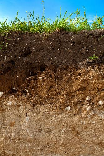 O solo pode apresentar diferentes características de acordo com o tipo de material que o constitui e o ambiente em que ele se originou