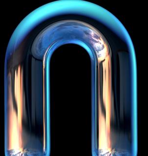 O tubo em U é usado para fazer as pontes salinas em pilhas com semicelas formadas por soluções aquosas