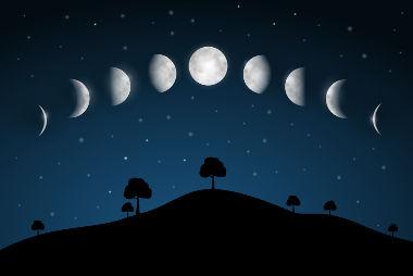 A Lua apresenta-se para nós em quatro fases diferentes: Nova, crescente, cheia e minguante