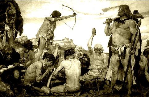 Vários instrumentos lascados e técnicas de caça foram desenvolvidos ao longo do Paleolítico