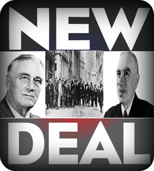 Franklin Delano Roosevelt e John Keynes: a política do New Deal.
