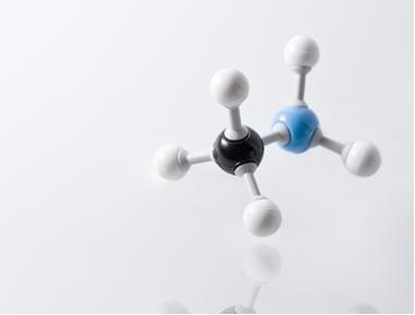 Modelo da molécula de metilamina ou metanamina