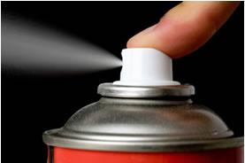 Haletos orgânicos proporcionam ação spray.
