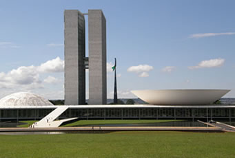 Congresso Nacional, localizado na capital federal, Brasília - DF.