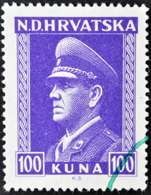 Ante Pavelic foi o líder do Ustasha e comandou o Estado Independente da Croácia (1941 - 1945) *