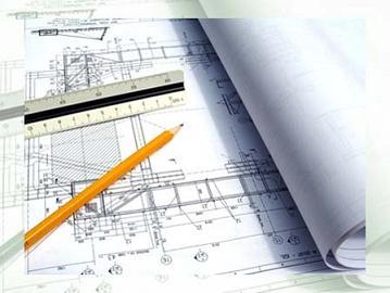 Geometria sendo utilizada no projeto de plantas da construção civil.