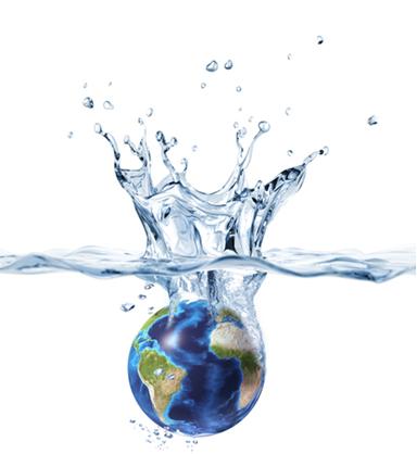 A grande maioria da água do planeta Terra está na forma salgada