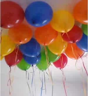 Como fazer com que balões flutuem?