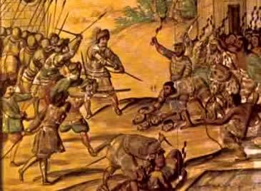 A violência marcou a dominação dos espanhóis sobre os povos pré-colombianos.