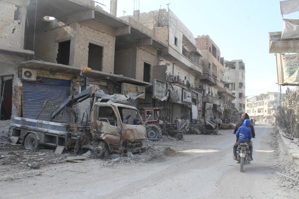 Retrato da destruição em Raqqa após anos de guerra*
