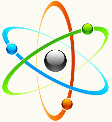 Representação do núcleo de eletrosferas de um átomo