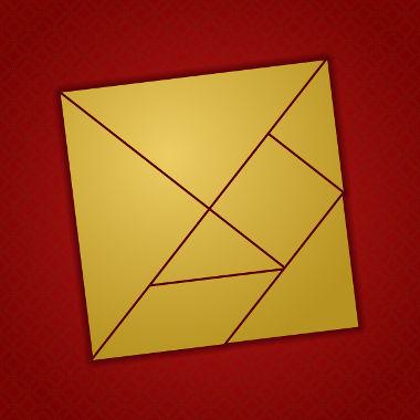 Quadrado formado por triângulos e quadriláteros