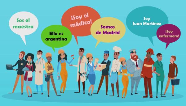 O verbo ser é utilizado em diferentes situações comunicativas tanto em Português quanto no Espanhol