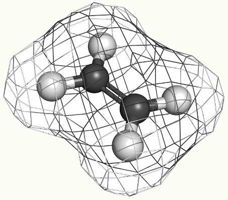 O eteno é um alceno que pode ser obtido por meio de uma reação orgânica de desidratação