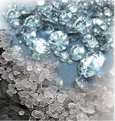 Se o diamante e o sal são cristais, por que então o diamante é duro e o sal não