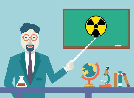 Símbolo utilizado para identificar a presença de radiação