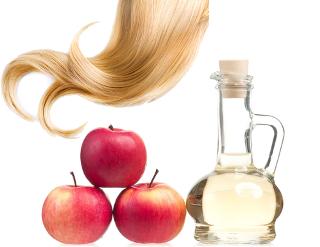 Passar vinagre de maçã nos cabelos misturado com água pode trazer brilho aos fios