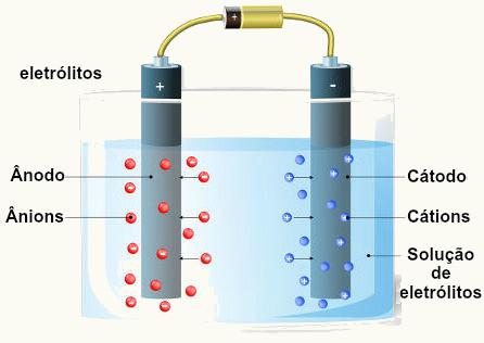 A descarga seletiva de íons ocorre apenas durante a eletrólise em meio aquoso
