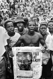 Manifestações contra a política do Apartheid