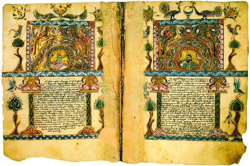 Páginas de um códice medieval