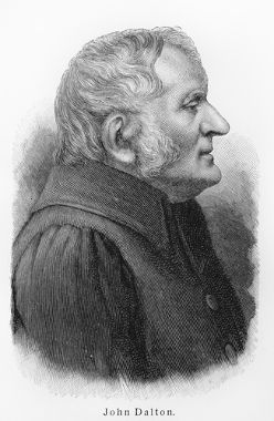 John Dalton foi o primeiro cientista a formular um modelo para o átomo
