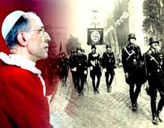 O Papa Pio XII se viu pressionado pelas ações violentas das tropas nazistas na Itália.