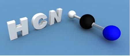 A molécula do gás cianídrico é formada por meio da hibridização sp do carbono