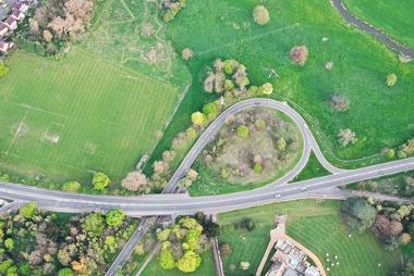 Exemplo de uma imagem obtida por aerofotogrametria