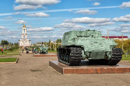 Memorial da batalha de Kursk, localizado na cidade de Kursk, na Rússia *