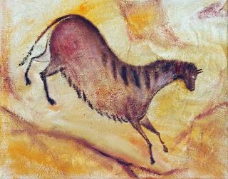 Cavalo pintado em parede da caverna de Altamira, na Espanha