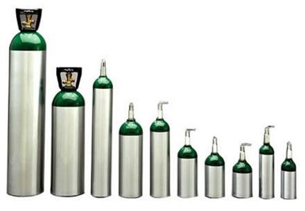 O volume total das misturas de gases em cilindros como esses é obtido pela somatória dos volumes parciais desses gases