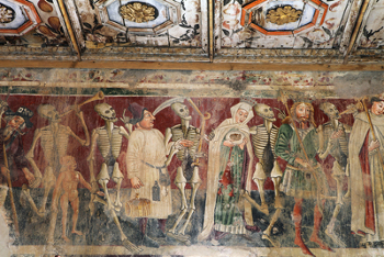 A representação do ritual da dança macabra resultou do impacto social gerado pela Peste Negra