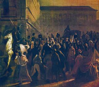Tela Estudo para a Questão Christie, do pintor Victor Meirelles (1832-1903)