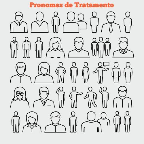 Os pronomes de tratamento são utilizados para designar o interlocutor a partir de sua posição social, cargo que exerce e/ou faixa etária