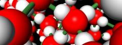 Interação entre moléculas de água.