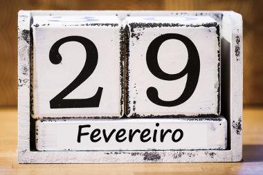 A cada quatro anos, o dia 29 de fevereiro deve ser acrescentado aos nossos calendários