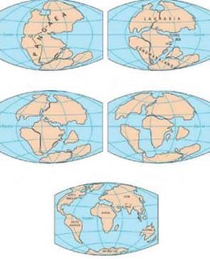 As modificações na configuração dos continentes e oceanos