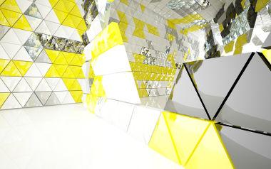 Sala em que todos os componentes são prismas triangulares